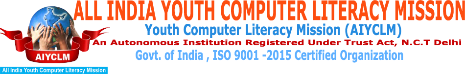 ALL INDIA YOUTH COMPUTER LITERACY MISSION